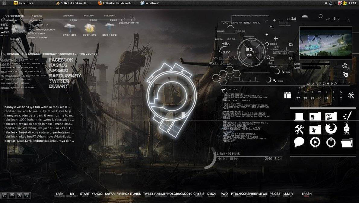 Live Animated Wallpapers For Windows 7 Free Download Full Version Rainmeter Theme Skin Best Collection Full Version
