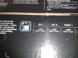 box cartridge hp 122