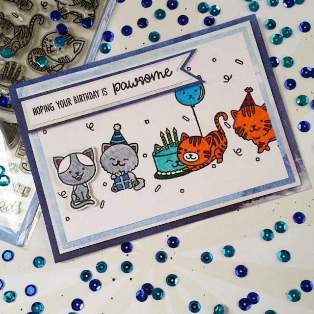 Sunny Studio Stamps: Purrfect Birthday Customer Card Share by Shana