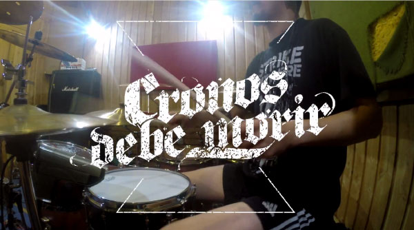 "Cronos Debe Morir release drum playthrough for ""Despertar"""