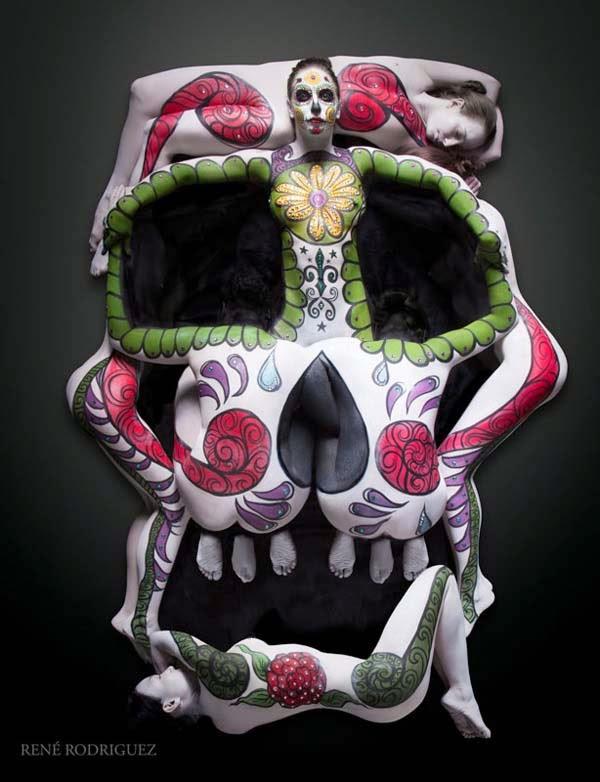 body painting art, body piercing art, body painting photos