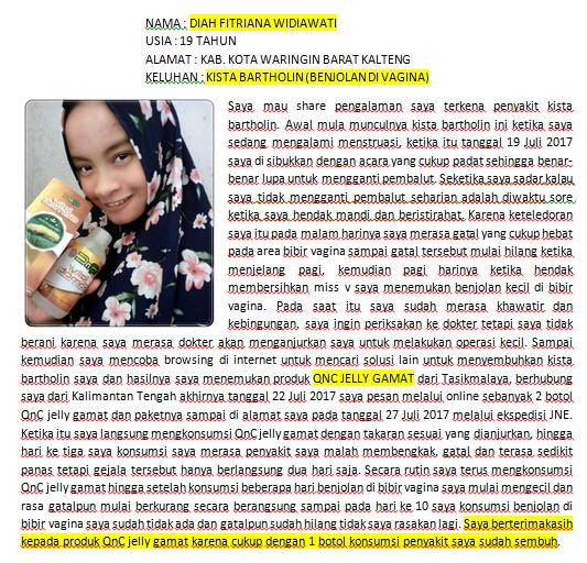 Obat Penghancur Kista Tradisional Paling Ampuh ~ TESTIMONI QNC JELLY GAMAT