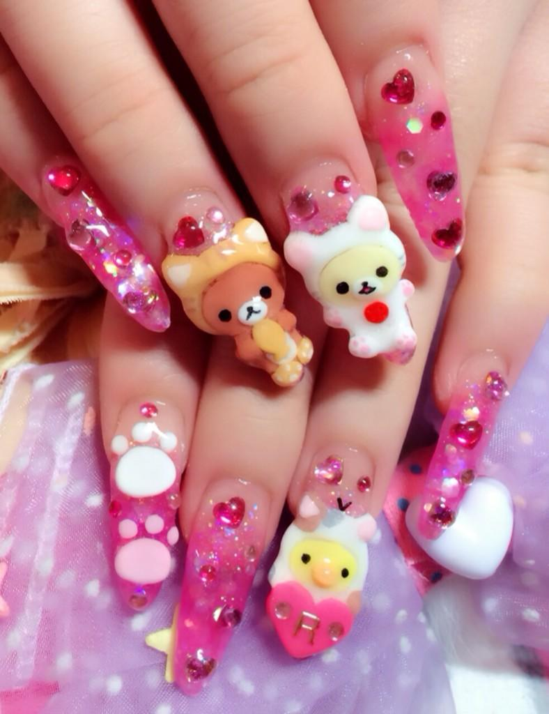 kawaii gyaru nail art