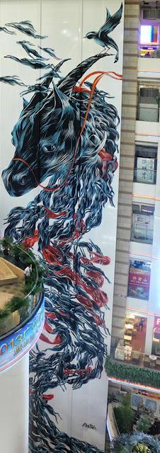 """""""Long Ma Jinjsxiu"""" Street Art By Pantonio Somewhere In Guangzhou, China. 2"""