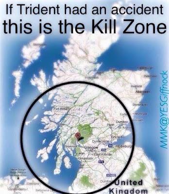 If Trident had an accident this is the kill zone #ScotRef #WMD #ScottishCND #CND #TheYESMovemen