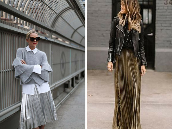fashion trend plissé pleated skirt gonna