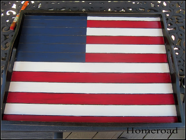 american flag tray DIY