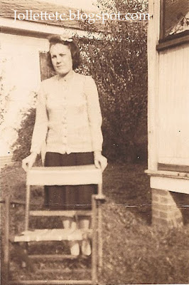 Unknown woman with folding chair probably an Eppard cousin https://jollettetc.blogspot.com