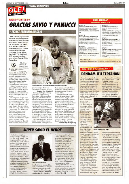 REAL MADRID VS INTER MILAN 2-0 GRACIAS SAVIO Y PANUCCI
