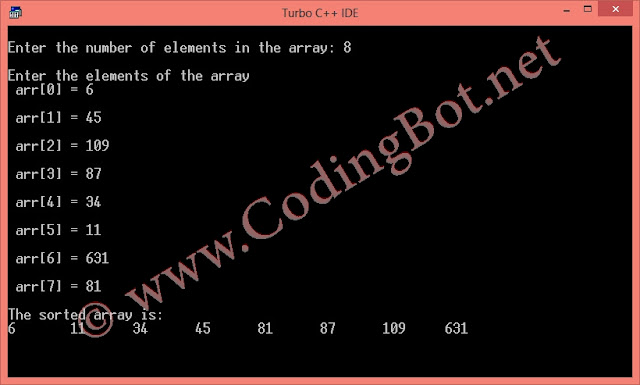 Insertion Sort Algorithm And C Code