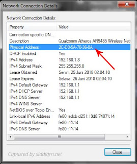 Cara Melihat MAC Address di Windows 7 dan 8 (Lengkap)