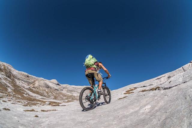 Anstieg Piz Züber Bike Tour MTB