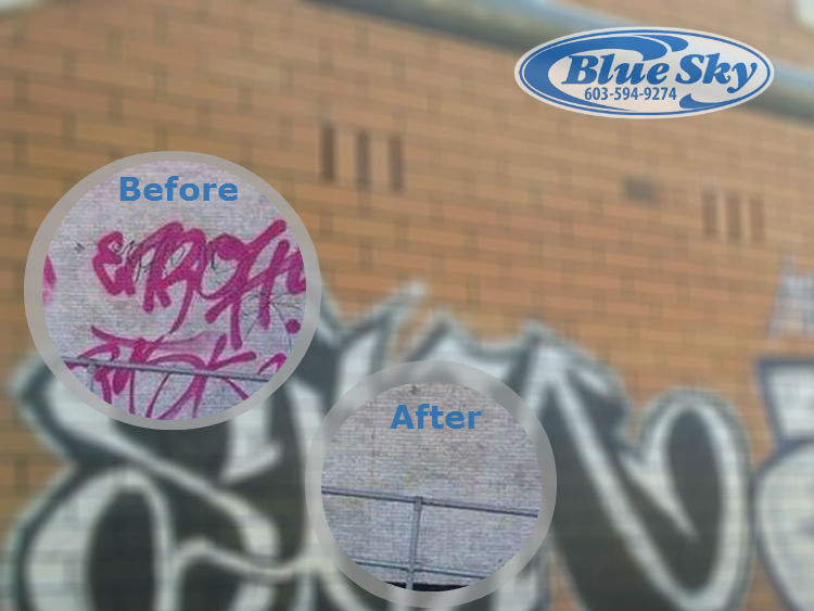 Pressure Washing Commercial Graffiti Service