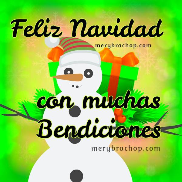tarjeta con muñeco de nieve saludos de feliz navidad