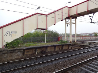 Ashburys railway station in Openshaw, Manchester