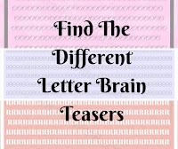 Find The Different Letter Brain Teaser