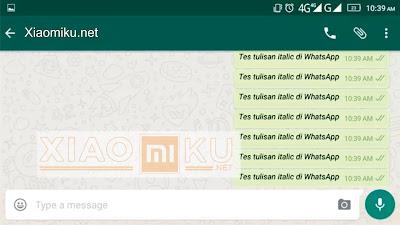 cara membuat tulisan mirip di whatsapp