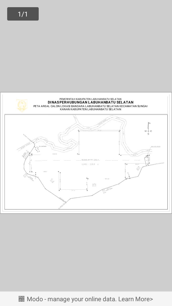 Denah lokasi pembangunan bandar di Labusel