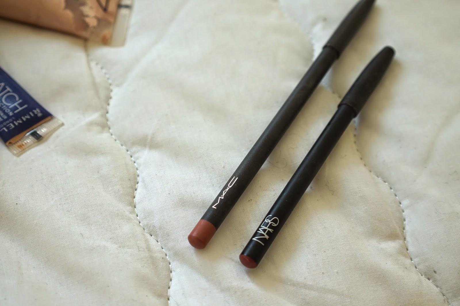 mac boldy bare vs nars rosebud