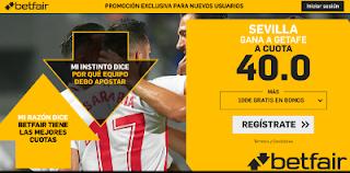 betfair supercuota Sevilla gana a Getafe 16 septiembre