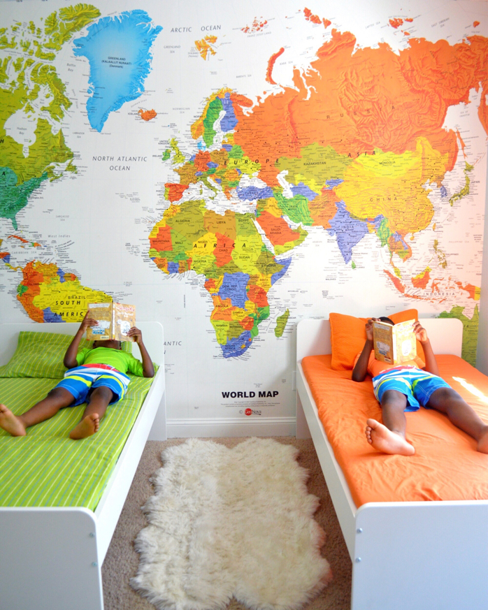 Our Map Wall Featured on Instagram-design addict mom