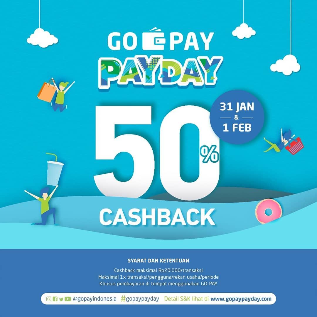 #Gokana - #Promo Payday Cashback 50% Pakai #GOPAY (s.d HARI INI)