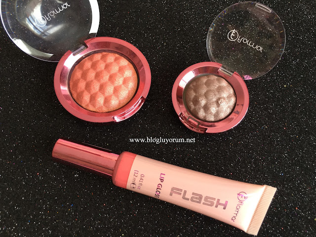 FLORMAR FUTURE FLASH BLUSH - EYE SHADOW - LIP GLOSS