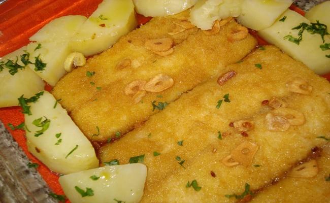 Filetes de peixe a Rosa do Adro