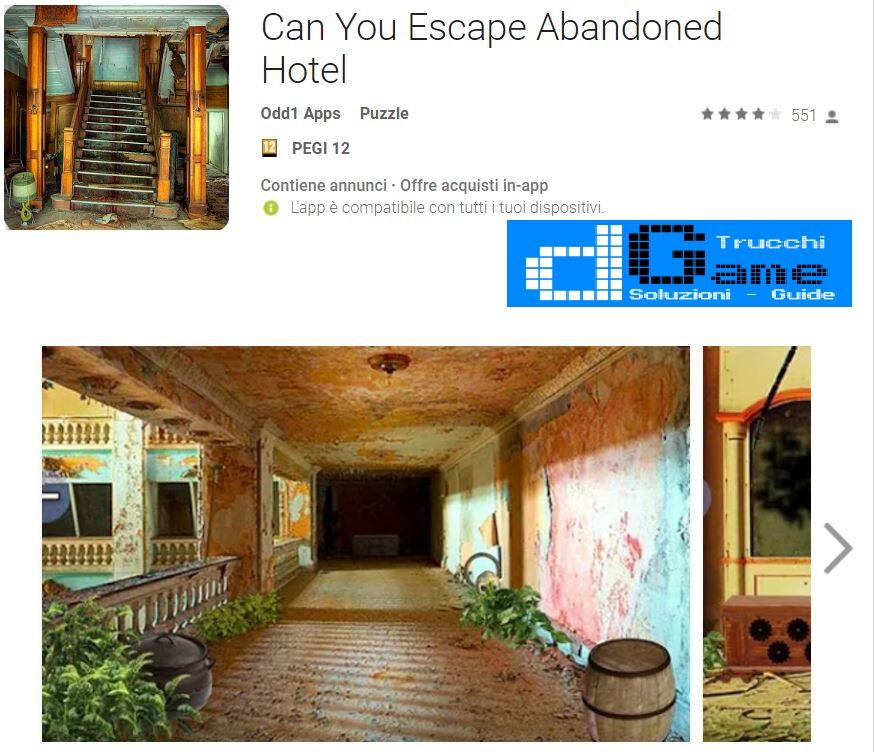 Soluzioni Can You Escape Abandoned Hotel | Tutti i livelli risolti con screenshot soluzione