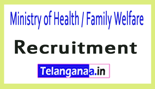 Ministry of Health / Family Welfare MOHFW Recruitment Notification