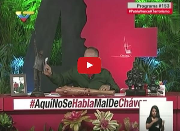 Diosdado confesó que ordenó atacar edificios