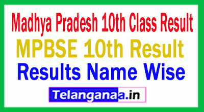 MP 10th Result 2019 Madhya Pradesh Board 10th Class Result MPBSE 10th Class Result 2019