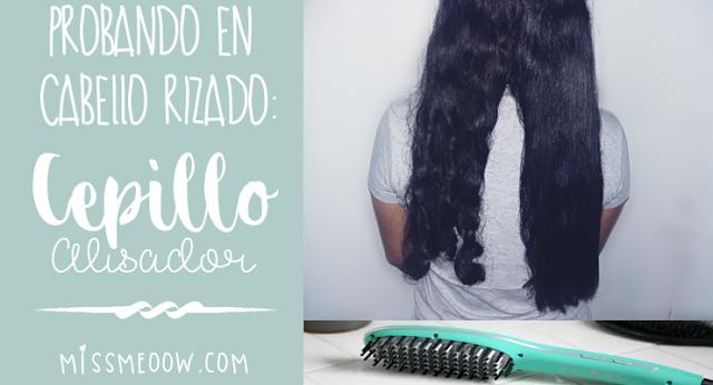Cepillo alisador en cabello rizado ¿Funciona? (Parte 2)
