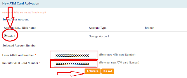 how to generate new atm pin number online sbi