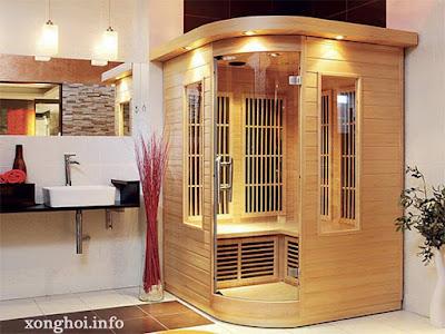 phòng xông hơi dành cho không gian phong tắm vừa phải