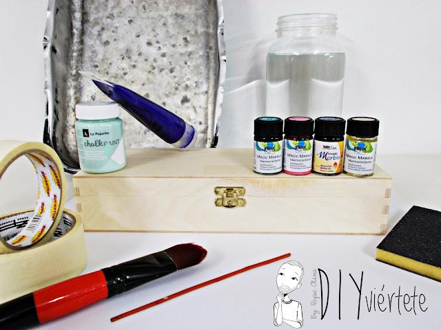 DIY-caja-madera-manualidades-marmoleado-marmolado-pinturas-Opitec-Handbox-mint-colores-vintage-2