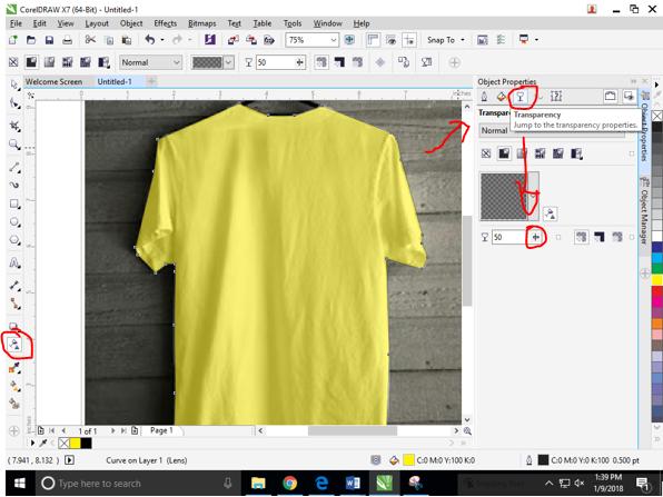Cara Mengubah Warna Baju Kaos Pada Coreldraw