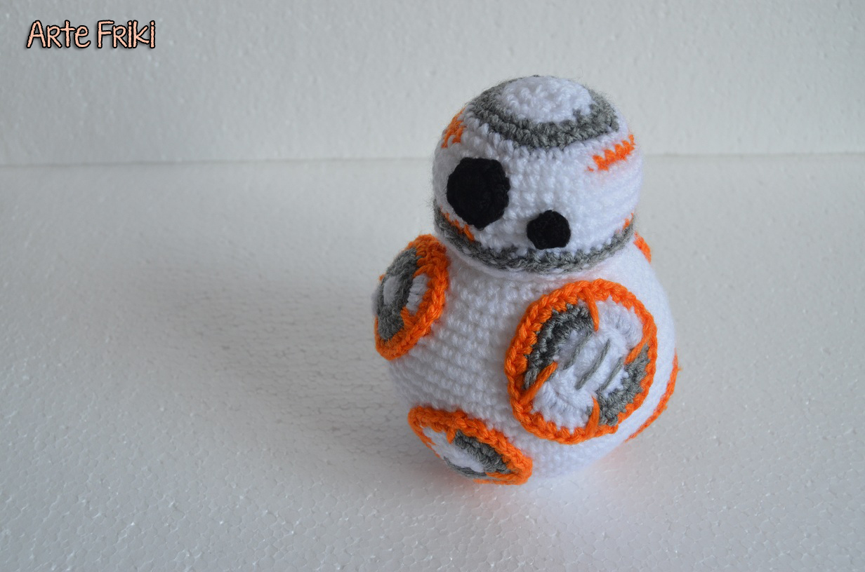 Free Amigurumi Snowman Crochet Patterns : BB8 Star Wars en Amigurumi - Arte Friki