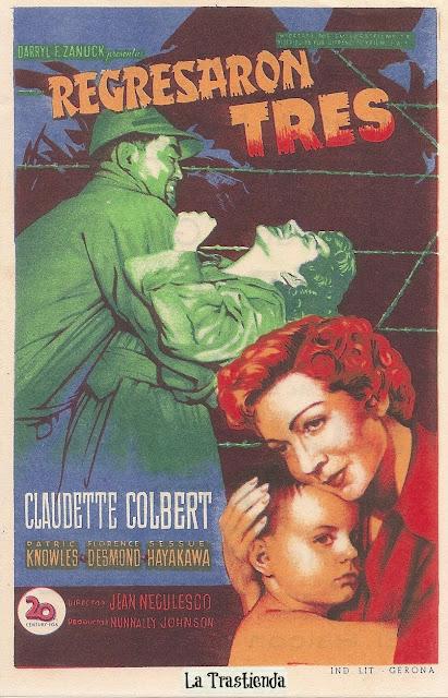 Programa de Cine - Regresaron Tres - Claudette Colbert - Patrick Knowles