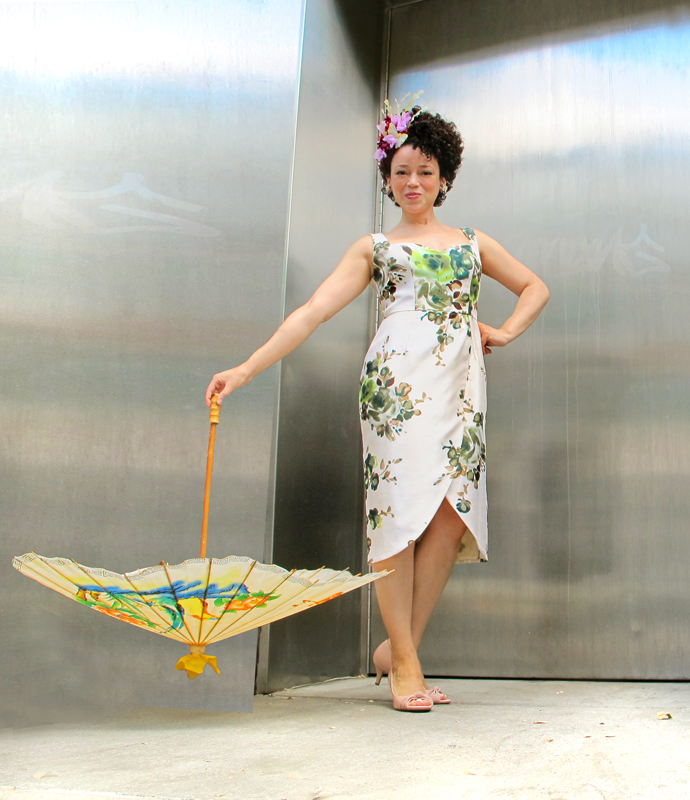 oonaballoona | by marcy harriell | BHL Kim dress and fascinator| a sewing blog