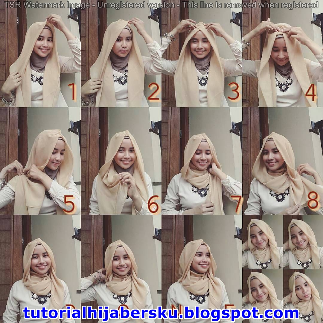 Tutorial Hijab Pashmina Monochrome Simple Terbaru Tutorial