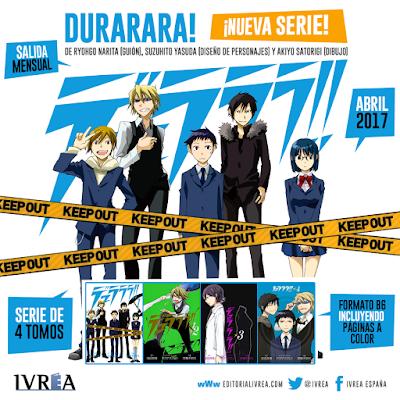 """IVRÉA licencia el manga """"Durarara!"""""""