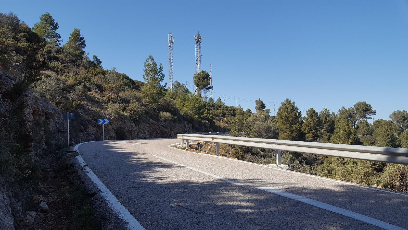 Communication antennae on Coll de Rates