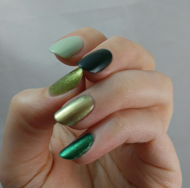 Green nails for St Patrick's Day