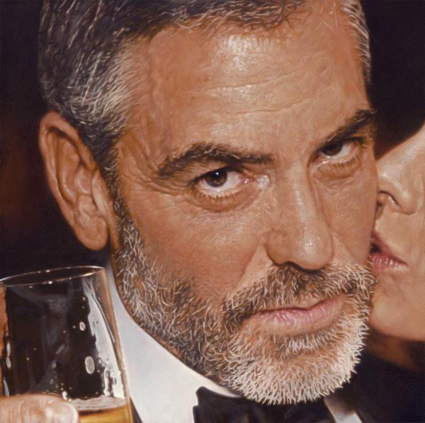 George Clooney - Sebastian Krüger 1963 - Realismo Pop Nuevo