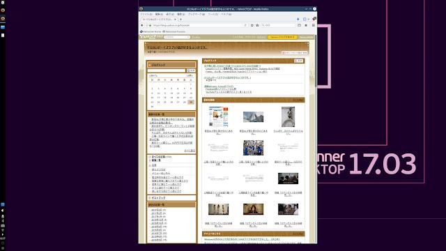 Netrunner 17.03の標準ブラウザ、Firefoxでインターネットに接続しました。Firefoxのバージョンは52.0です。