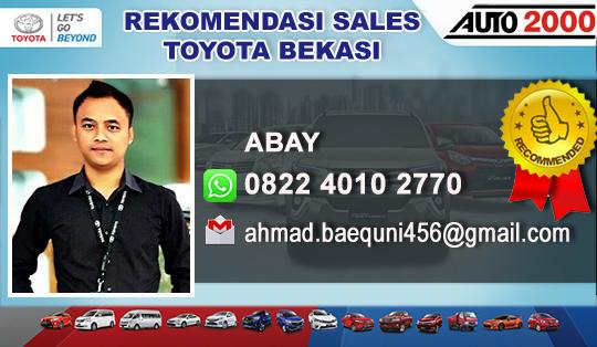 Rekomendasi Sales Toyota Jatiasih Bekasi