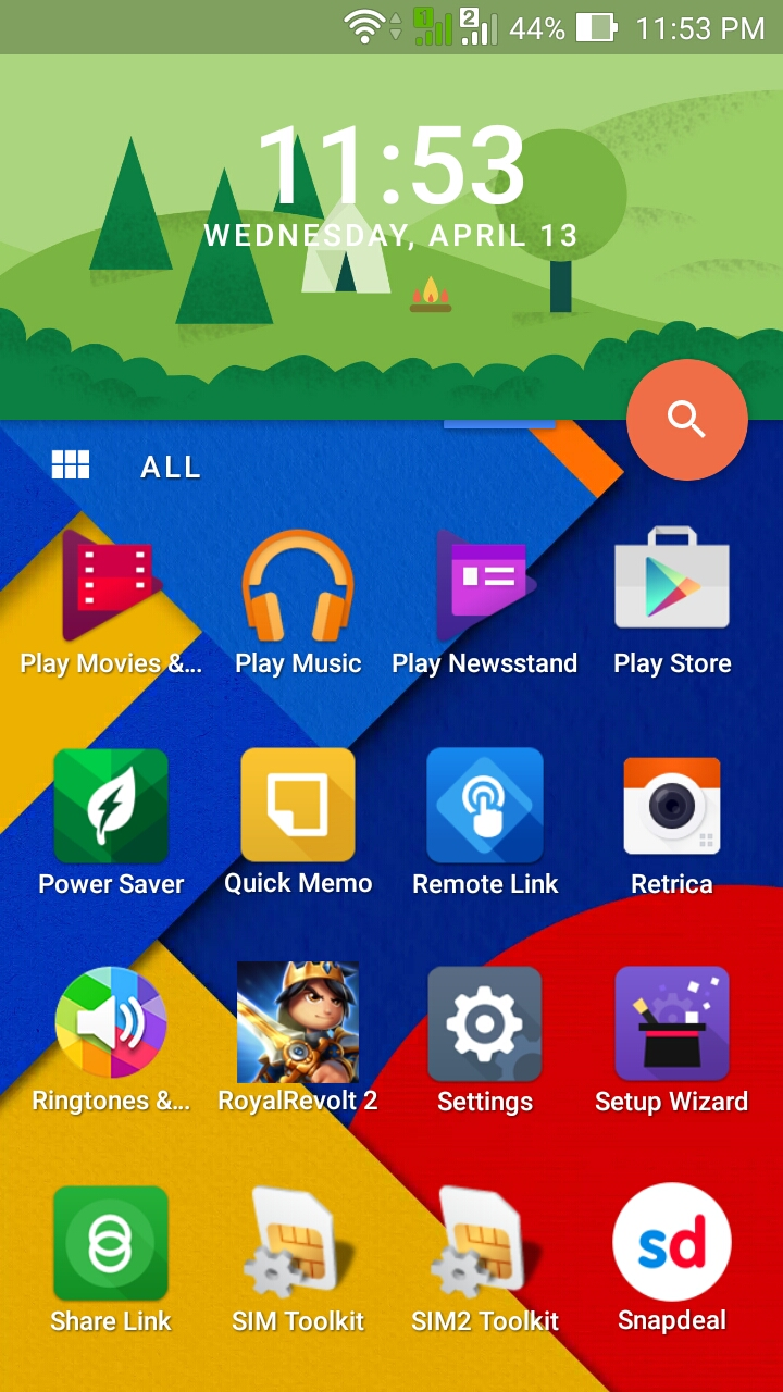how to add a new home screen on android