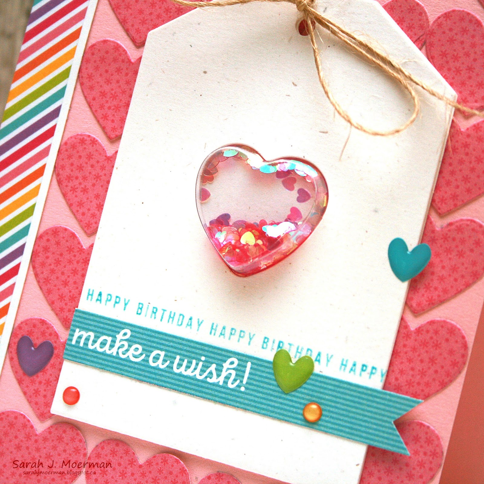 My impressions sss september card kit reveal make a wish shaker the jillibean small heart shaped shaker and matching small heart shaker tag made creating this shaker card so easy all i had to do was pop the heart into kristyandbryce Choice Image