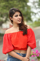 Rhea Chakraborty in Red Crop Top and Denim Shorts Spicy Pics ~  Exclusive 083.JPG